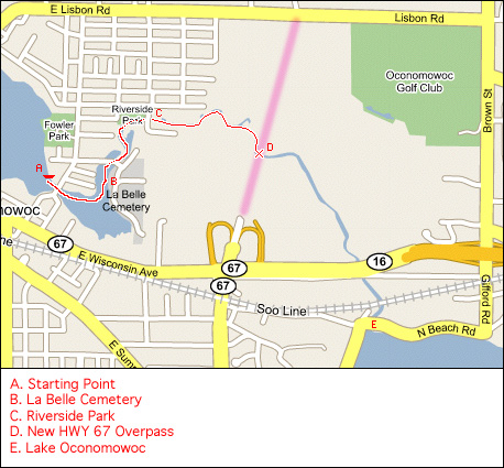 Canoe Map - Oconomowoc River