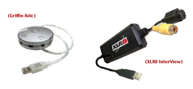 Griffin iMic and XLR8 InterView USB Video Capture Device