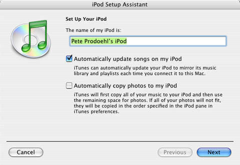 Set Up Your iPod... Again!