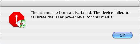 iTunes Laser Error