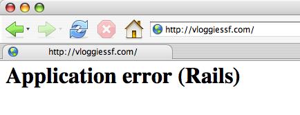 Application error (Rails)