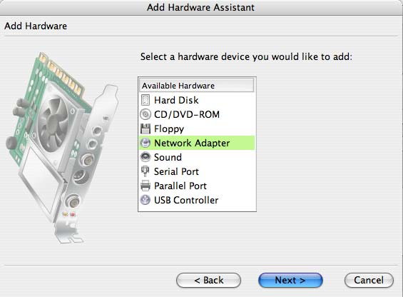 Adding a Network Adapter