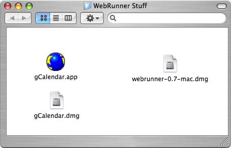 WebRunner / gCalendar