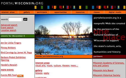 PortalWisconsin.org screen shot