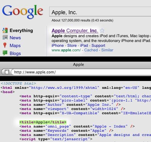 I Googled Apple