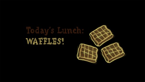 Today's Lunch: Waffles!