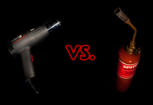 Heat Gun vs. Blow Torch