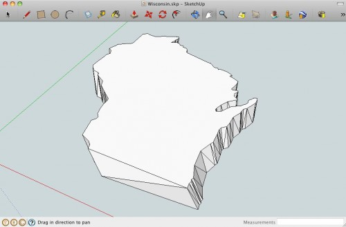Wisconsin in Sketchup