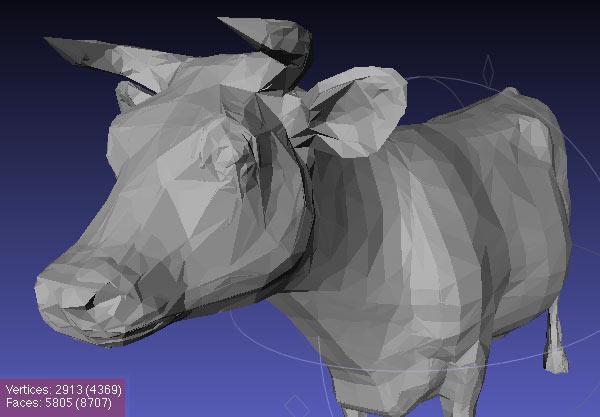 Cow Original (MeshLab)
