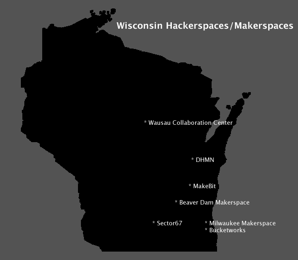 Wisconsin Hackerspaces / Makerspaces
