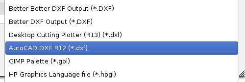 Export DXF