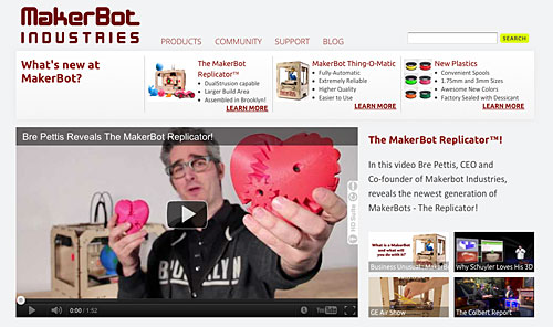 MakerBot Web Site