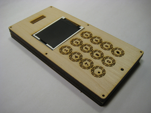 Laser-cut plywood and veneer case