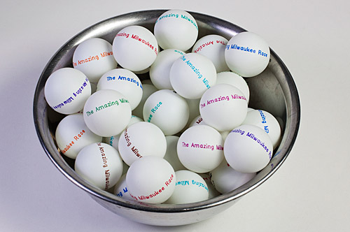 Ping-Pong Balls for The Amazing Milwaukee Race