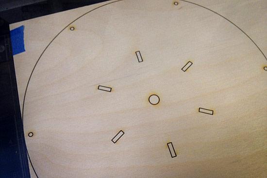Laser-cut wood