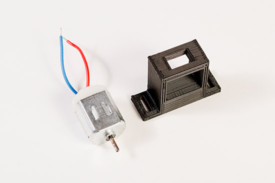 Motor and holder