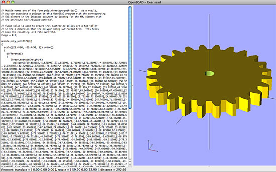 Gear in OpenSCAD