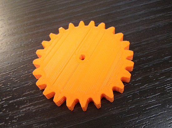 3D Printed Plastic Gear