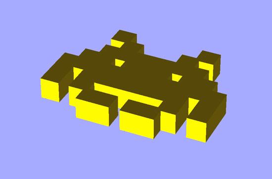 Space Invader STL