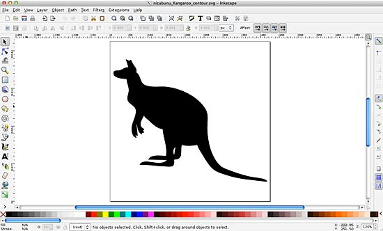 Kangaroo in Inkscape