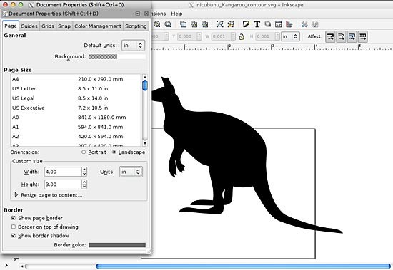 Resizing in Inkscape