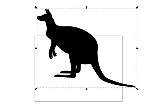 Resizing the Kangaroo in Inkscape