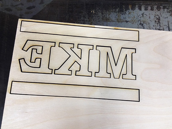 Laser cutting the plate
