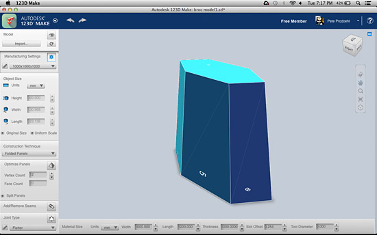Broc's STL in 123D Make