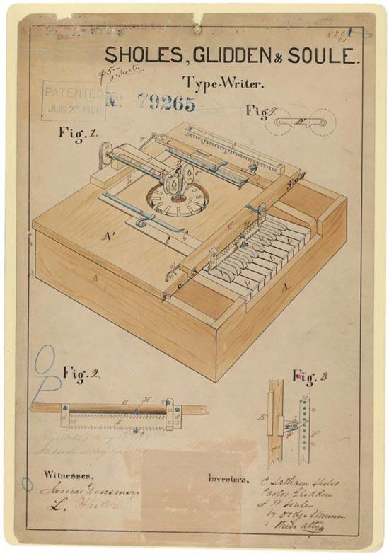 Sholes, Glidden & Soule typewriter