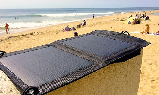 The Badger: Waterproof USB Solar Panel