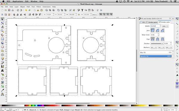 Parts in Inkscape