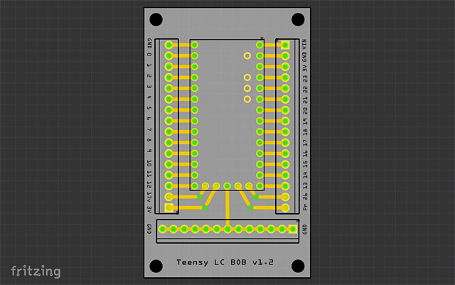 PCB in Fritzing
