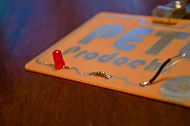 LED & resistor