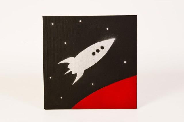 Rocket on canvas