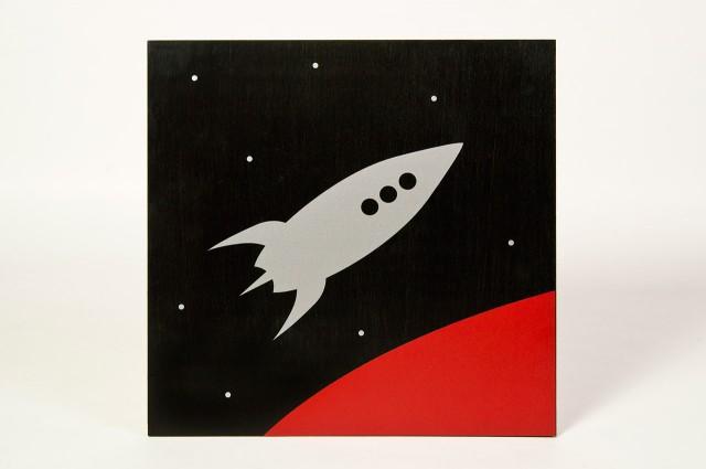 Rocket on wood